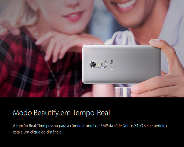 Neffos X1 - feature 3 - Modo Beautify em tempo real