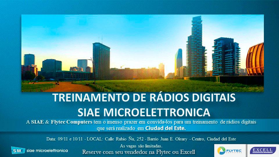 Treinamento de rádios digitais Siae